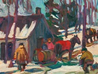 maple sugar time by kathleen moir morris