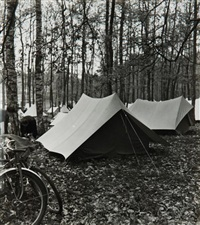 camping à fontainebleau (11 works) by maurice tabard