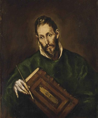 saint luke by el greco