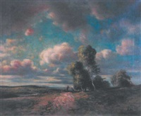 paysage de flandres by walter eugene cleff
