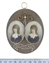the twin sons of john toler (pair, framed together) by horace hone