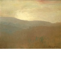 mountains in autumn by bayard henry tyler