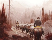 pack outfit - north fork of the shoshone by george d. smith