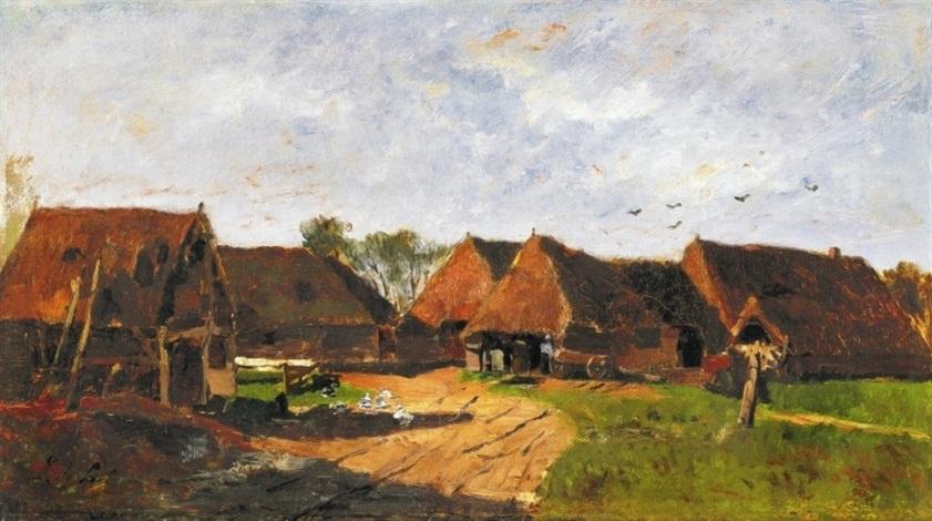 táj házakkal landscape with houses by lászló paál