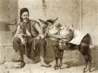 porteur d'eau oriental et son âne by alexandre bida
