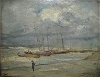 storm te heyst by adolf alexander dillens