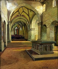 interno della chiesa del convento benedettino di lorch in germania by hans lietzmann