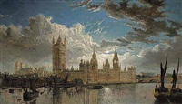 view of westminster from the river thames by john macvicar anderson