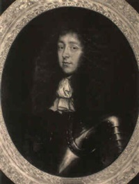 portrait of a gentleman (sir anthony slingsby?) wearing armour by antonio verrio