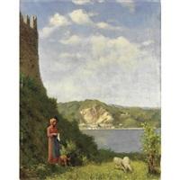 paesaggio sul lago by pio sanquirico