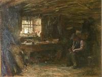 the carpenter's workshop by george ogilvy reid