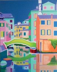 venise, le pont vert by dominique janiere