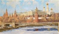 winteransicht des kremel by boris nikoleavich yakovlev