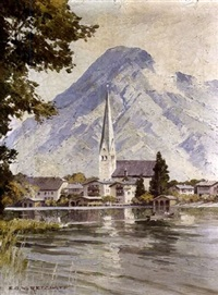 town of rottach-egern by tegernsee by ernst carl walter retzlaff