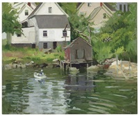 booth bay harbor, maine by george oberteuffer