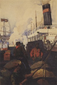 unloading a freighter by george harding