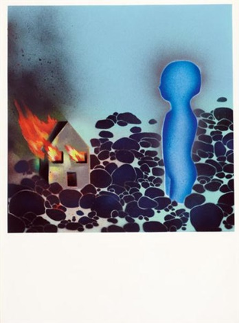 the burning house, spray by david wojnarowicz