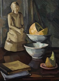 still life with buddha by denis frederic neal peploe