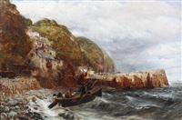 clovelly - north devon by charles thomas burt