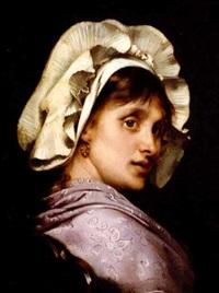 portrait de femme by tony robert-fleury