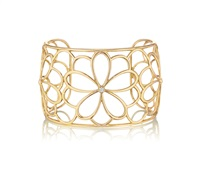 gold and diamond cuff bracelet by tiffany & company