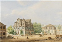 a town square, prussia by adolf wegelin