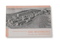einladungskarte werkbundausstellung die wohnung, stuttgart weissenhof by willi baumeister