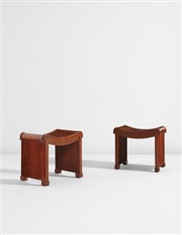 pair of stools, model no. mt 1015 by pierre chareau