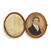 miniature portrait of a young man with blond hair by nathaniel rogers