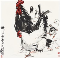 黄 胄(1925-1997) 阖家欢 by huang zhou
