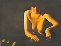 nude with fruits by tibor csernus