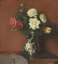 still life with roses by jános krizsán