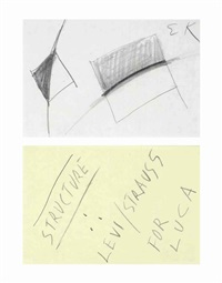 untitled (structure levi/strauss) (in 2 parts) by ellsworth kelly