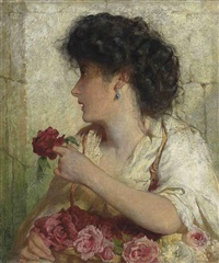 a summer rose by george elgar hicks