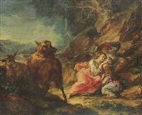 famiglia di pastorelli in riposo con capre by giuseppe antonio pianca
