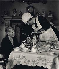 parlormaid serving tea, 1938 by bill brandt