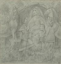 figurale darstellung mit pferden by robert angerhofer