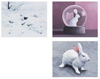 conejos, de la serie breve historia de la representación, la ilusión y la mímesis (3 works) by césar córdova