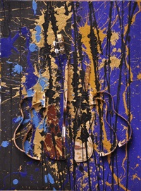 sans titre bleu et noir by arman