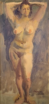 portrait of a nude by raphael soyer
