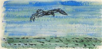 gull over sea 6 by milton avery