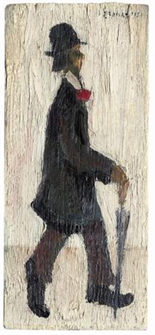 figure 2 man with umbrella study by l s lowry on artnet