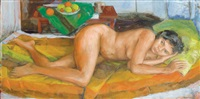 gladys (reclining nude) by margaret hannah olley