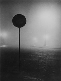 denfert rochereau in the fog, paris by brassaï
