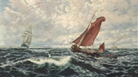 squally weather, pegwell bay, kent by thomas rose miles