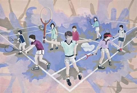 die tennisstunde the tennis lesson by thomas eggerer