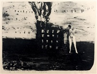 factory at night with nude by david lynch