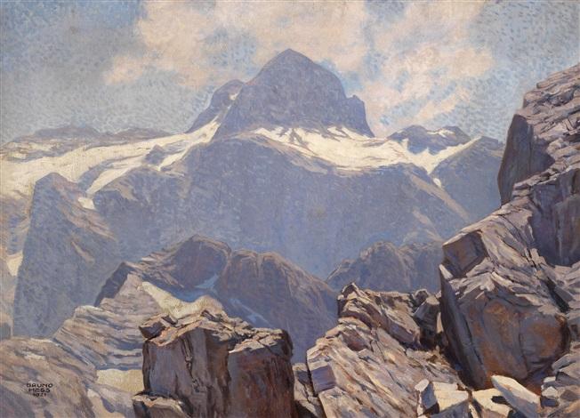 der triglav vom gipfel des razans julische alpen by bruno hess
