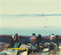 Untitled (Three Indians on Horses)