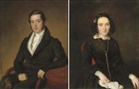 portait of hendricus stekkerik (+ portrait of adriana jacoba stekkerik-du sarte; pair) by jan baptist van der hulst